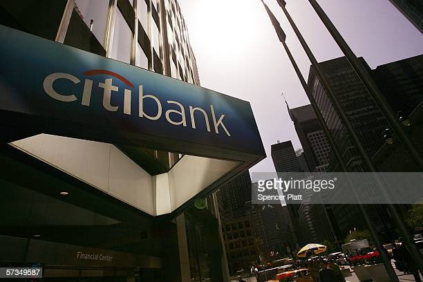 The Citibank building is seen April 17, 2006 in New York City. Citigroup Inc., the world's biggest financial-services company by market value, has...