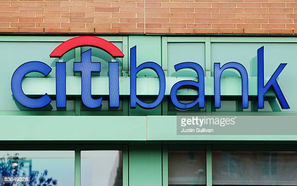 The Citibank logo is seen at a Citibank branch office November 11 2008 in Des Plaines Illinois Citigroup announced Monday that they will be stopping...