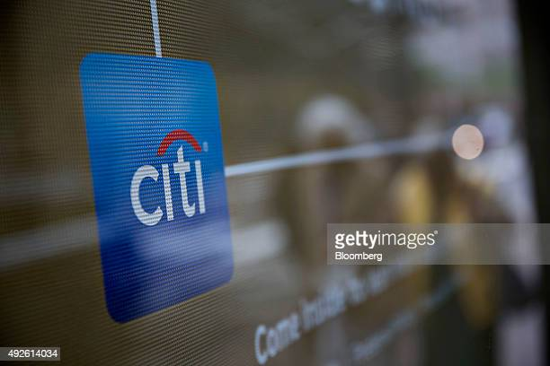 The Citibank logo is seen in the window of a bank branch location in Chicago Illinois US on Monday Oct 5 2015 Citigroup Inc is expected to report...