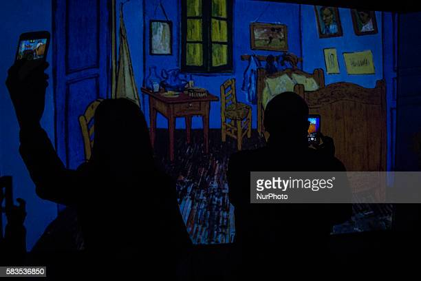 The citizens of Bogota Colombia on 25 July 2016 went to the premier of Van Gogh Alive A whole new experience that explores the senses from the...