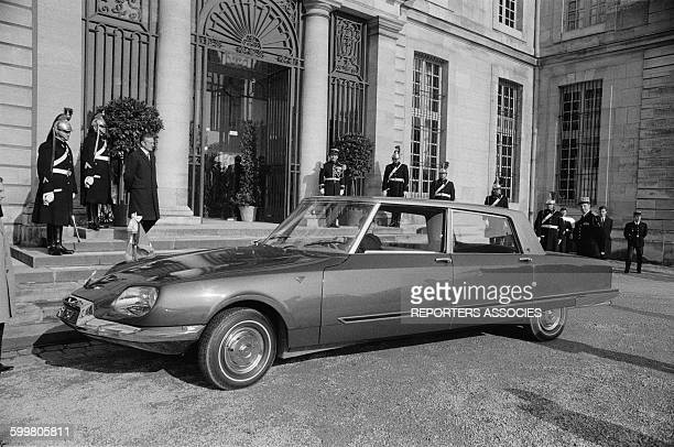 The Citroen DS 21 Designed By Henry Chapron For The General De Gaulle New Official Car Of French Presidency In Paris France In 1968