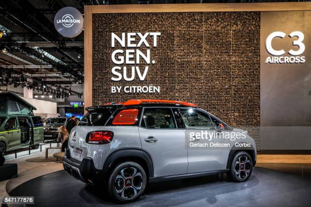 The Citroën C3 Aircross on display at the 2017 Frankfurt Auto Show 'Internationale Automobil Ausstellung' on September 13 2017 in Frankfurt am Main...