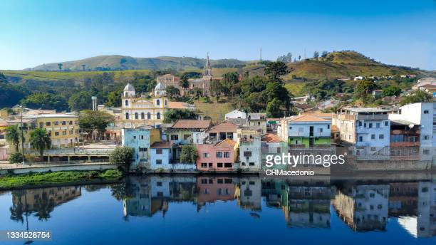 the city and its churches, destination of many pilgrims, the margin of the beautiful river. - crmacedonio stock pictures, royalty-free photos & images