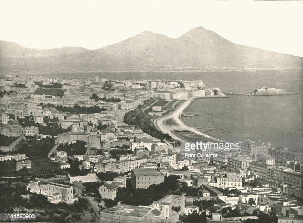 The City Bay and Vesuvius Naples Italy 1895 The port of Naples on the Mediterranean Sea is one of the most important in Europe From Round the World...