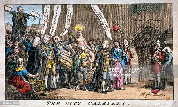 'The City carriers' 1769 a procession consisting of City officials approaches the entrance to St James's Palace in order to present the Petition of...