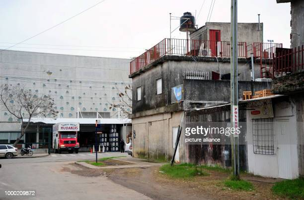 The 'City Center' building complex and the neighbouring district of La Bajada pictured in Rosario Argentina 28 June 2017 Messi and his longtime...