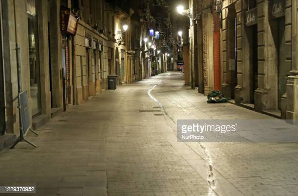 The City center during the curfew decreed in Catalonia by the Government of the Generalitat, in Barcelona, on 30th October 2020.