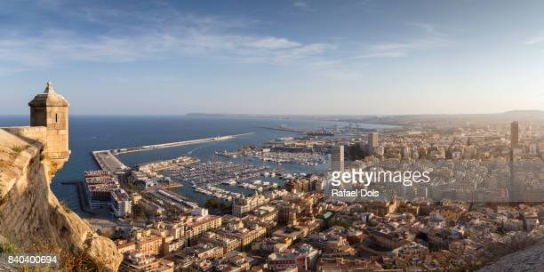 the city center of alicante, costa blanca, spain - valencia spanje stockfoto's en -beelden