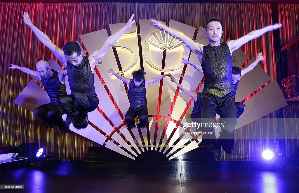 The City Contemporary Dance Company performs at the Mandarin Oriental Hong Kong 50th Anniversary Gala on October 17, 2013 in Hong Kong, Hong Kong.