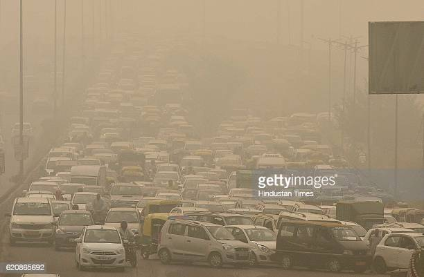 The city covered under a blanket of smog as air quality deteriorated sharply overnight on November 2 2016 in New Delhi India A blanket of smog has...