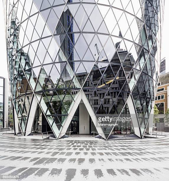 The City, detail of Swiss Re Tower