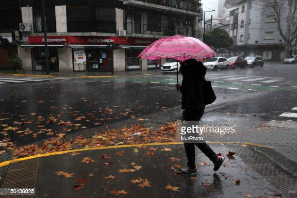 The city empties due to power cuts and rain in Buenos Ares Argentina on June 16 2019