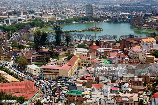 the city from the upper town, antananarivo, madagascar - antananarivo stock photos and pictures