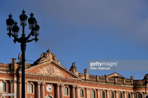 The city hall Capitole is pictured in Toulouse southern France on December 5 2017 / AFP PHOTO / REMY GABALDA