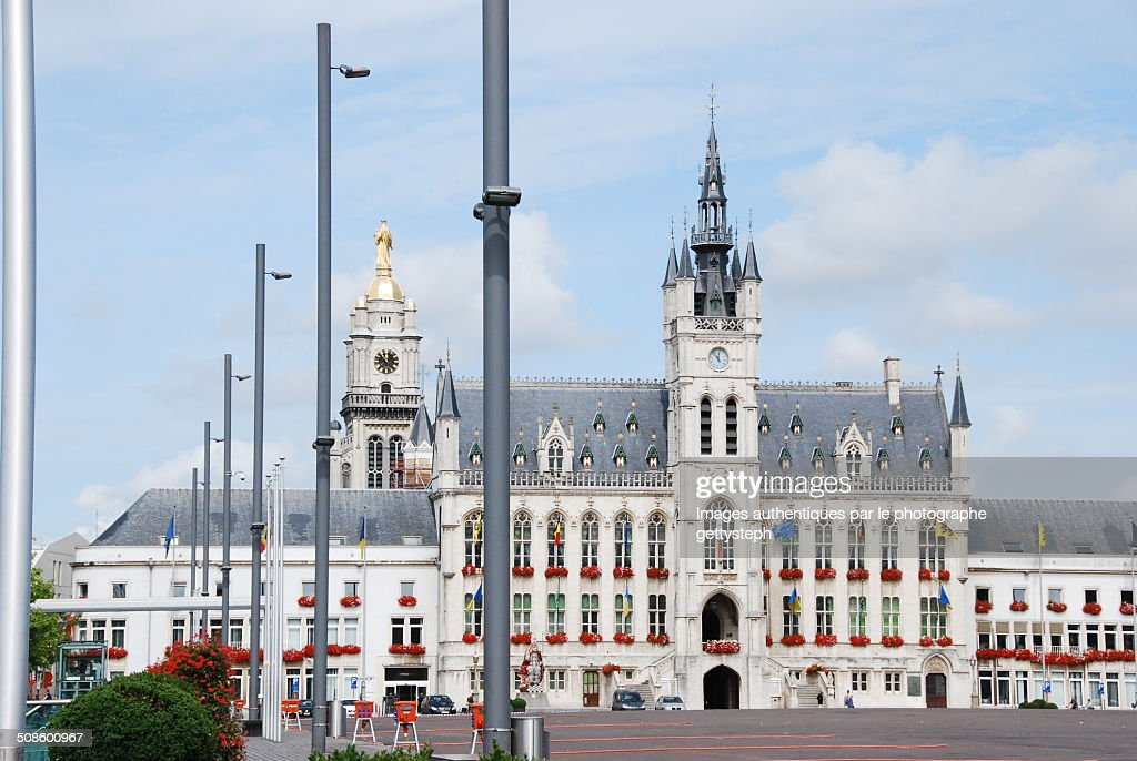 The city hall of Sint-Niklaas : Foto de stock