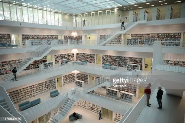 The City Library of Stuttgart, Germany on October 31, 2019