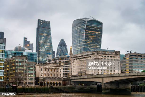 the city, london - international landmark stock pictures, royalty-free photos & images