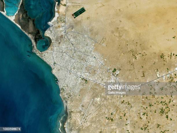 The city of Al Hudaydah located on the coast of Yemen A main trade and shipping port on the Red Sea on May 06 2018 in Al Hudaydah Yemen Photo by...