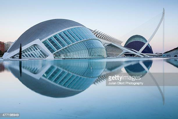 the city of arts and sciences in valencia - valencia stock pictures, royalty-free photos & images