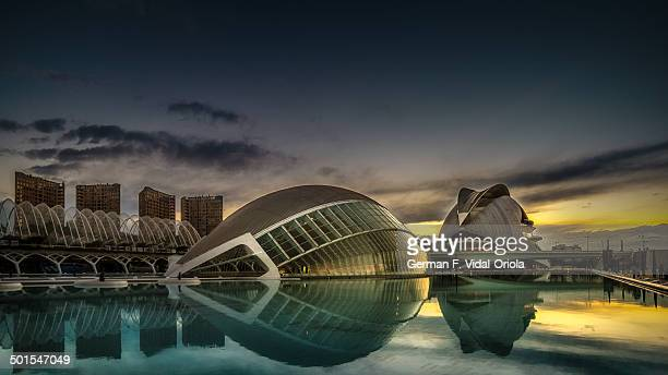 CONTENT] The City of Arts and Sciences is a cultural and architectural complex in the city of Valencia Spain The buildings were designed by...