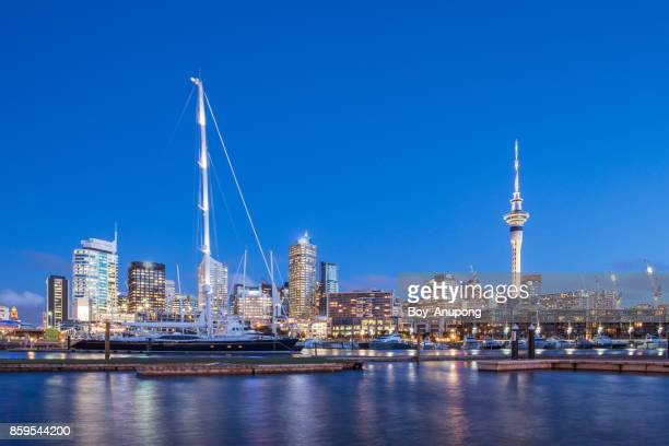 The city of Auckland, New Zealand.