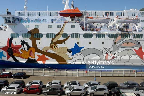 The city of Bastia and the ferry port in the department Haute corse in August 10 2019 in Corsica France