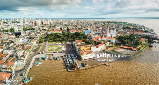 The City Of Belem In Aerial View, Para State, Brazil