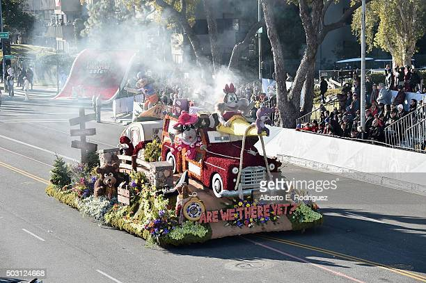 The City of Burbank float participates in the 127th Tournament of Roses Parade presented by Honda on January 1 2016 in Pasadena California