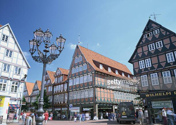 the city of celle - celle stock photos and pictures