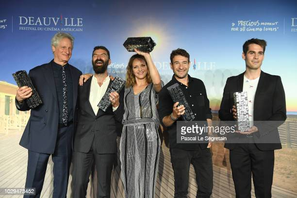 The city of Deauville audience award Prize winner Marc Turtletaub for Puzzle Louis Roederer Foundation revelation prize winner Jeremiah Zagar for We...