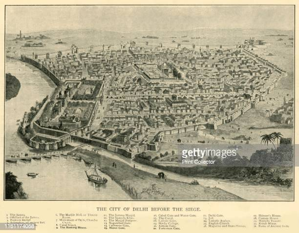 The City of Delhi Before The Siege', 1901. Delhi was besieged and captured by the British in 1857 during the Indian Mutiny. The capture of the city...