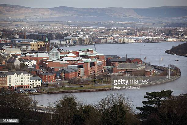 The city of Derry lies on a bend in the River Foyle on March 16 2010 in Northern Ireland The Bloody Sunday Inquiry chaired by Lord Saville was...