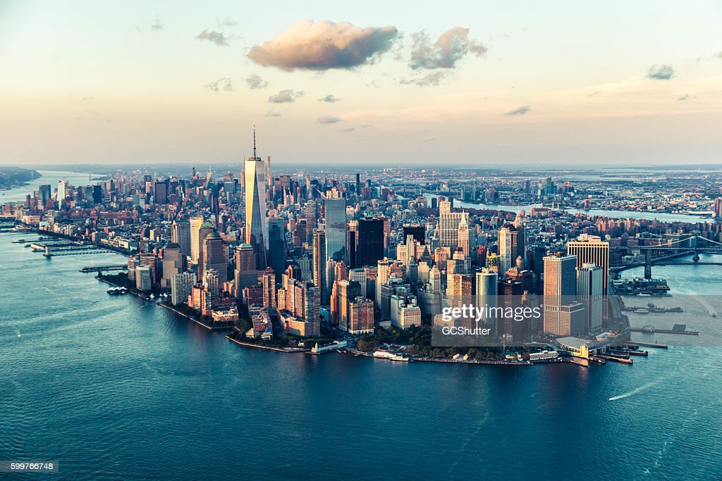 The City of Dreams, New York City's Skyline at Twilight : Stock Photo