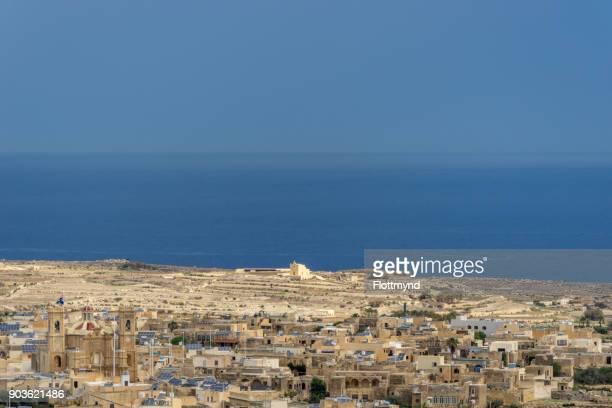 the city of Gharb on Gozo island