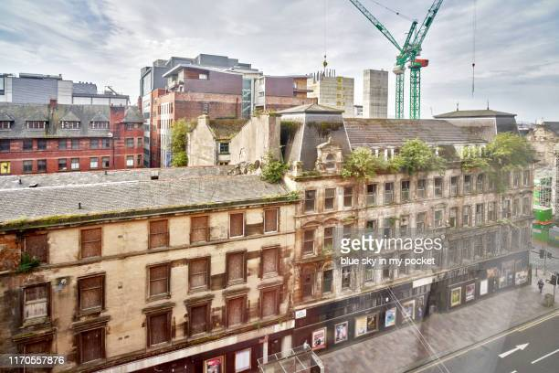 the city of glasgow under construction and redevelopment - old glasgow stock pictures, royalty-free photos & images