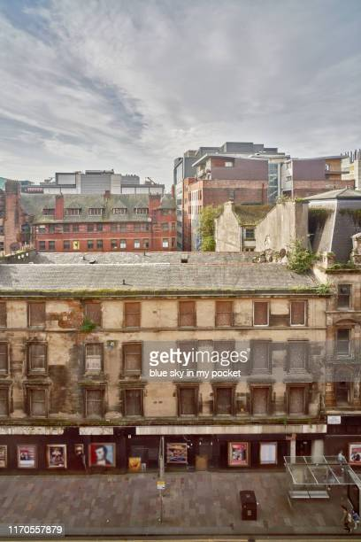 the city of glasgow under construction and redevelopment - strathclyde stock pictures, royalty-free photos & images