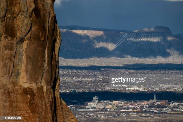 The city of Grand Junction is seen from the Colorado National Monument in Grand Junction Colorado US on Tuesday Feb 19 2019 Colorado's Grand Valley...
