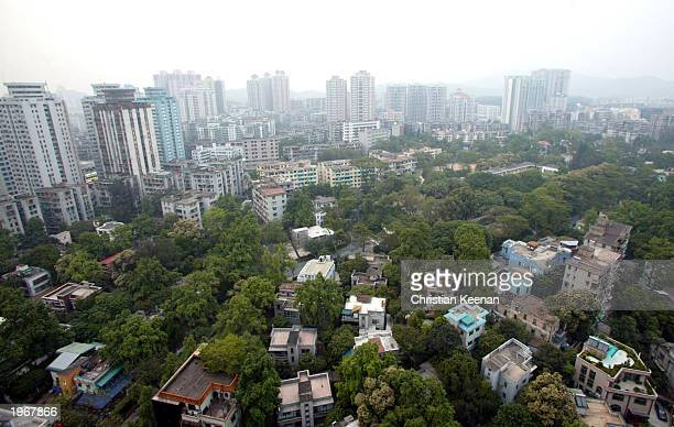 The city of Guangzhou capital of Guangdong province is shown May 2 2003 in China Guangdong province is the area where the Severe Acute Respiratory...
