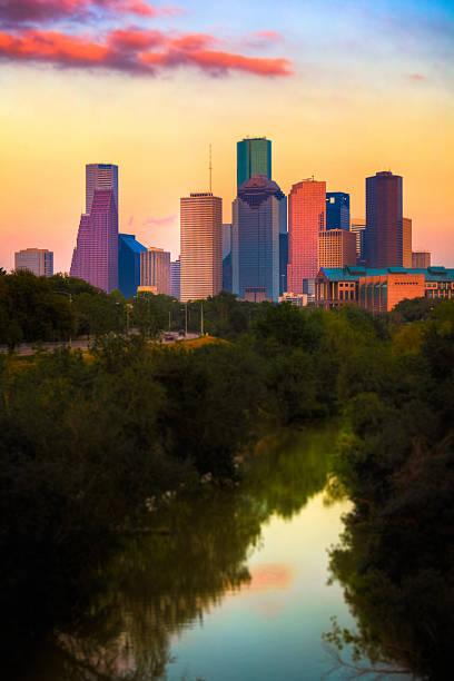 Houston Skyline at Sunset