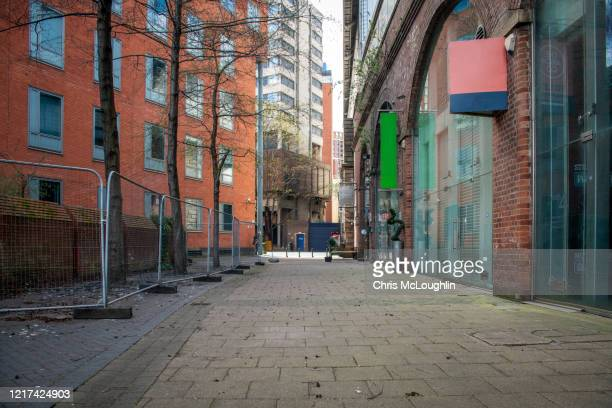 the city of leeds under covid 19 government guidance - empty streets stock pictures, royalty-free photos & images