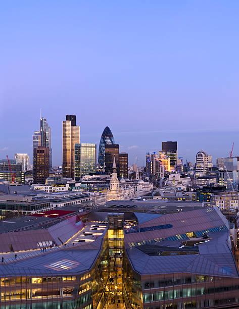 """The City of London, dusk"""