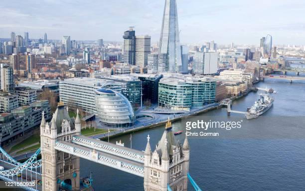 The city of London pictured three days before full lockdown on March 20, 2020 in London, England.