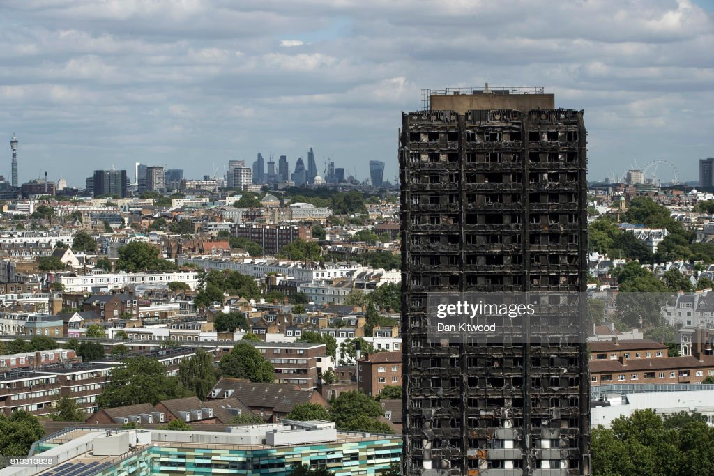 Grenfell Tower Fire - One Month On : News Photo