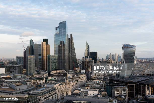 the city of london's financial district skyline - global stock pictures, royalty-free photos & images