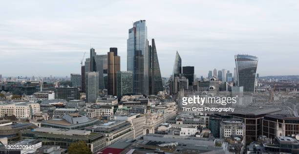 the city of london's financial district skyline - tax stock pictures, royalty-free photos & images