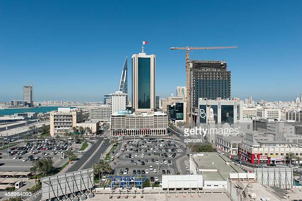 the city of manama, bahrain - bahrain stock pictures, royalty-free photos & images
