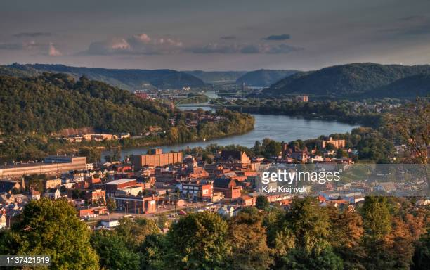 the city of martins ferry at sunset - ohio stock pictures, royalty-free photos & images