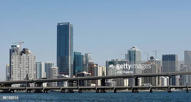 The city of Miami skyline seen from the ocean on April 22, 2009 in Miami, Florida. Though it is hard for law enforcement officers to determine which...