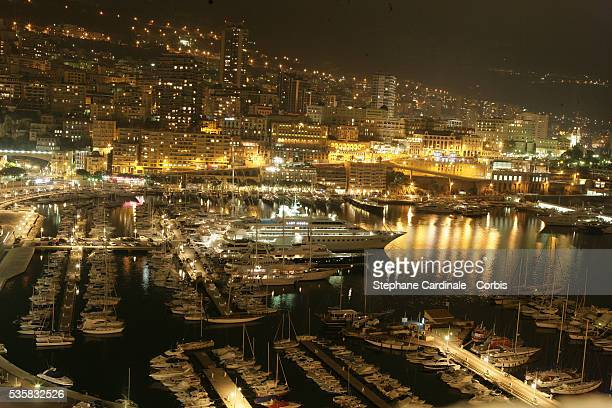 The city of MonteCarlo by night