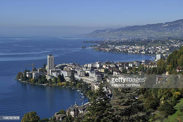 The city of Montreux is seen on the edge of Lake Geneva on October 7 2010 From October 22 to 24 Montreux will host the 13th Francophone countries...
